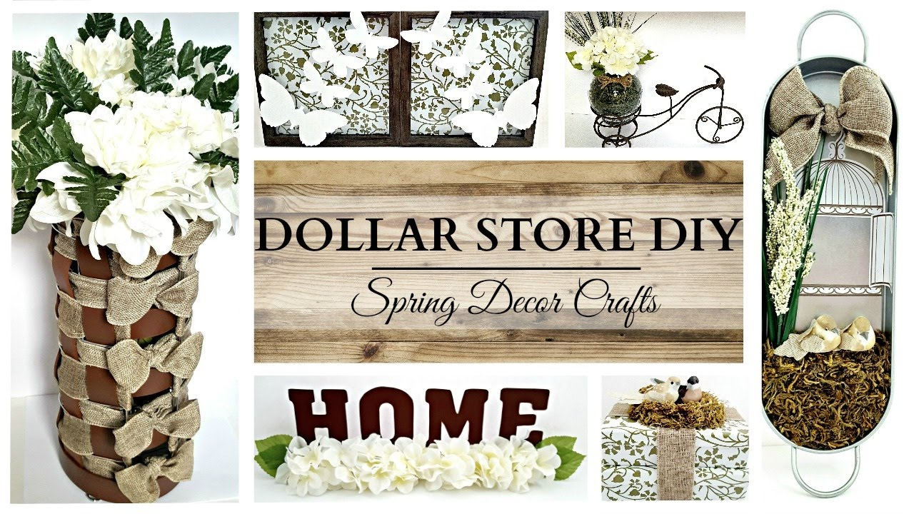 Best Dollar Store Diy S Earth Tone Spring Home Decor Crafts This Month