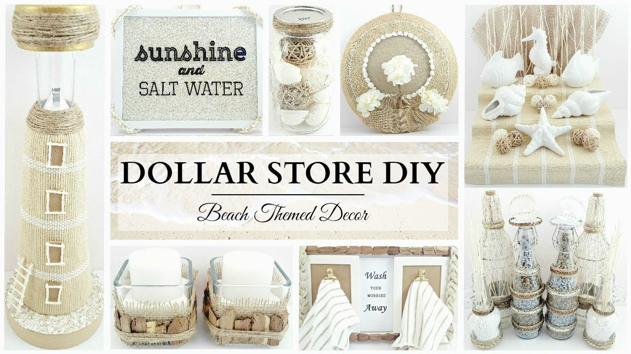 Best Dollar Store Diy S 10 Neutral Beach Themed Decor Crafts This Month