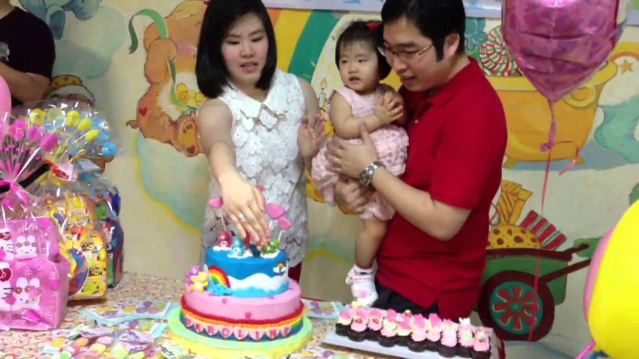 Best Caroline 1 Year Old Birthday Party Carebear Theme Youtube This Month