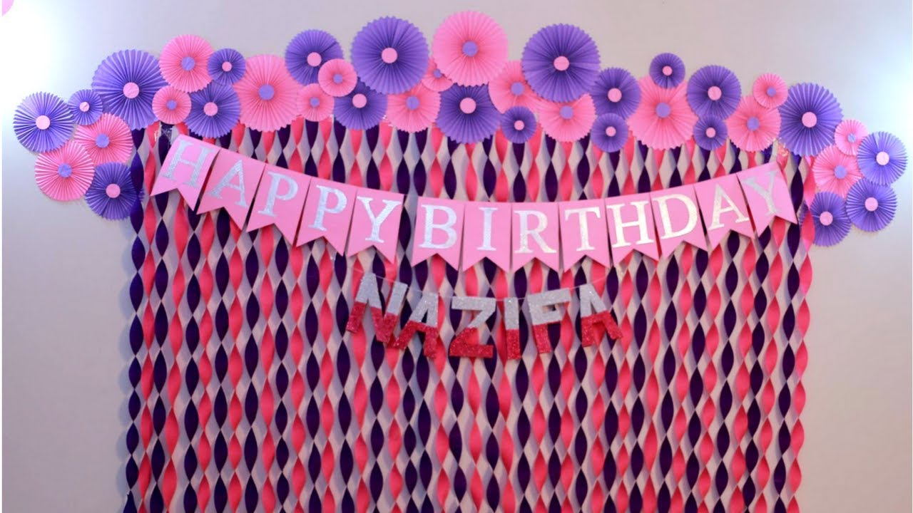 Best Birthday Decoration Ideas At Home Decorations For Baby This Month