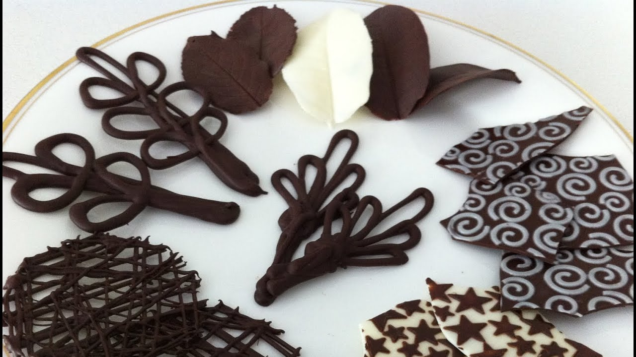 Best How To Make Chocolate Garnishes Decorations Tutorial Part This Month