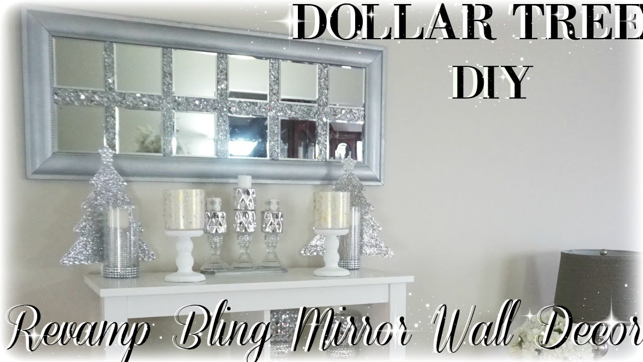 Best Diy Bling Revamp Mirror Wall Decor Diy Dollar Tree This Month