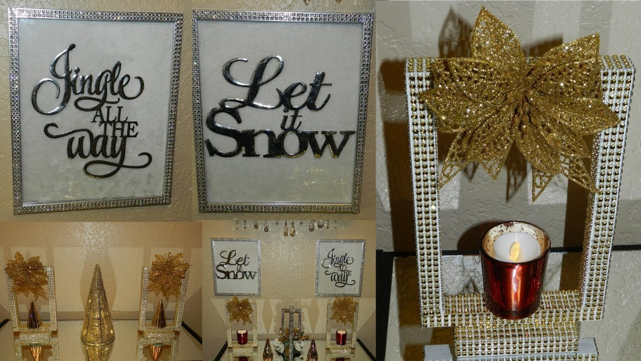 Best Dollar Tree Diy Christmas Wall Decor Glam Candle Holders This Month