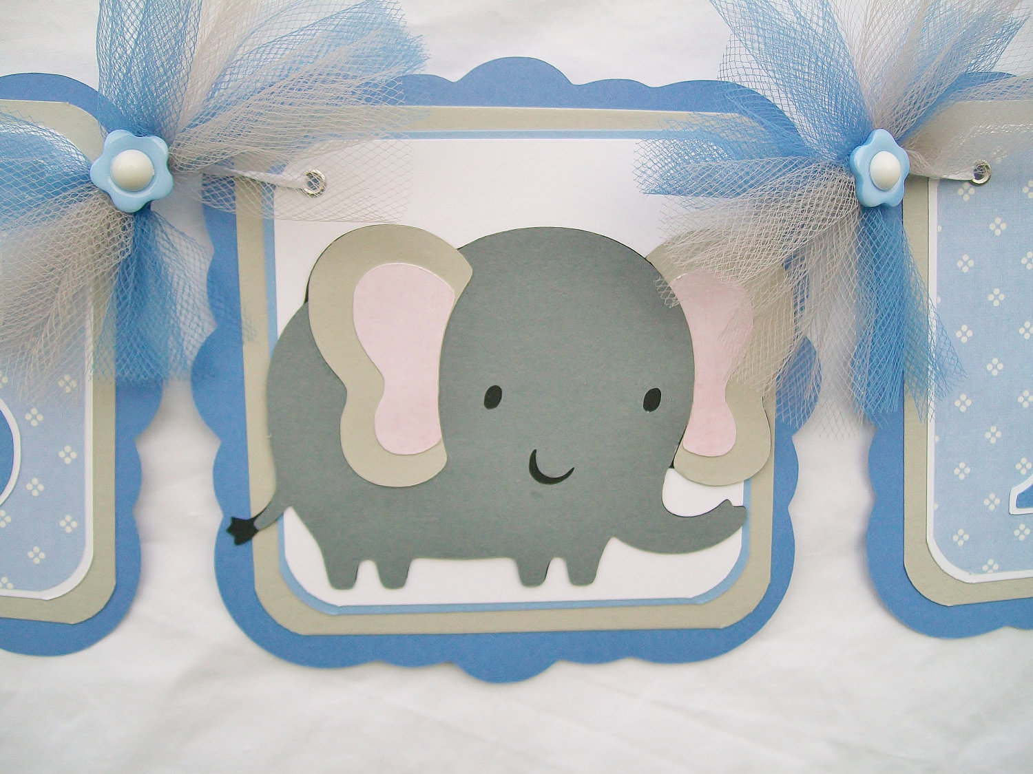 Best Elephant Baby Shower Banner Blue Grey White Its A Boy This Month