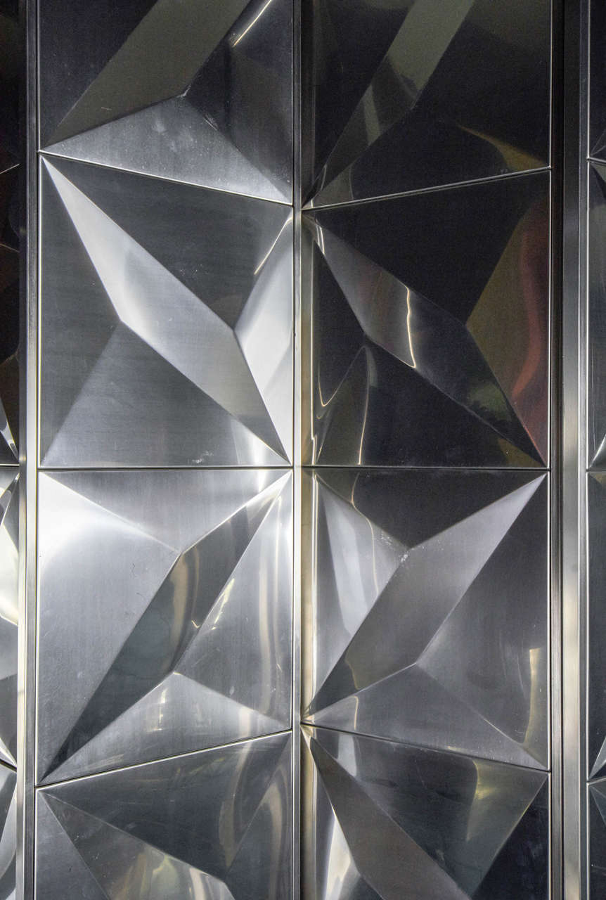 Best 1970S French Stainless Steel Decorative Panels Screen At This Month