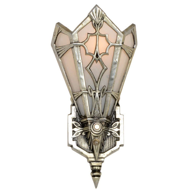 Best Set Of 3 High Style Aluminum Art Deco Sconces Or Wall This Month