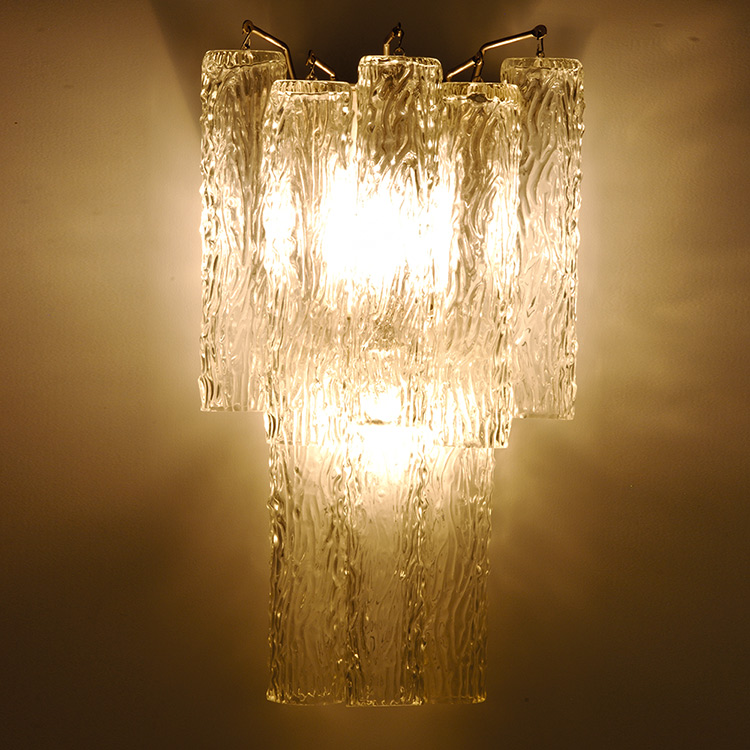 Best Art Deco Venini Draped Organic Style Glass Wall Sconce This Month