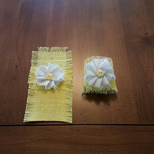 Best Burlap Spring Yellow Shabby Chic Table Runners Placemats This Month