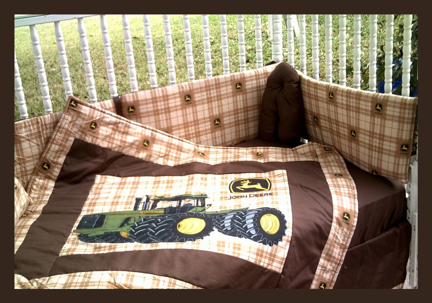Best New John Deere Crib Bedding Set With Large Tractor Blanket And This Month