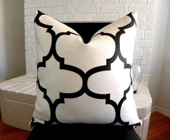 Best Black And White Decorative Pillow Cover 20 X 20 Inch This Month
