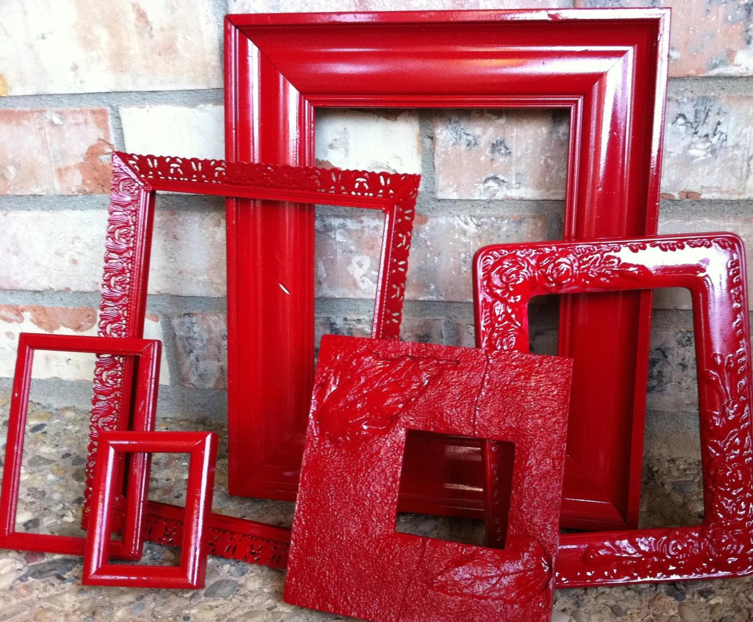 Best Upcycled Frames Vintage Red Frames Unique Home Decor Alice This Month