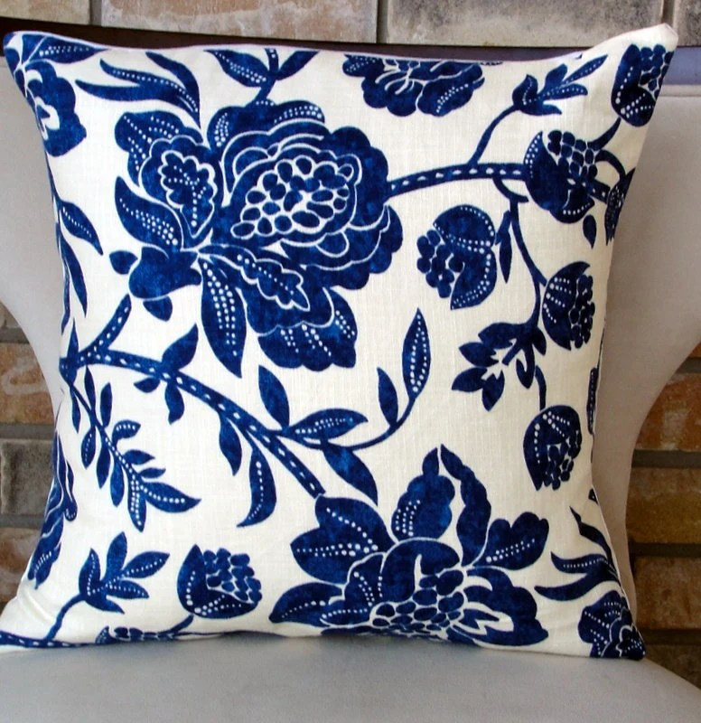 Best Decorative Pillow Designer Pillows Home Accents Blue Floral This Month