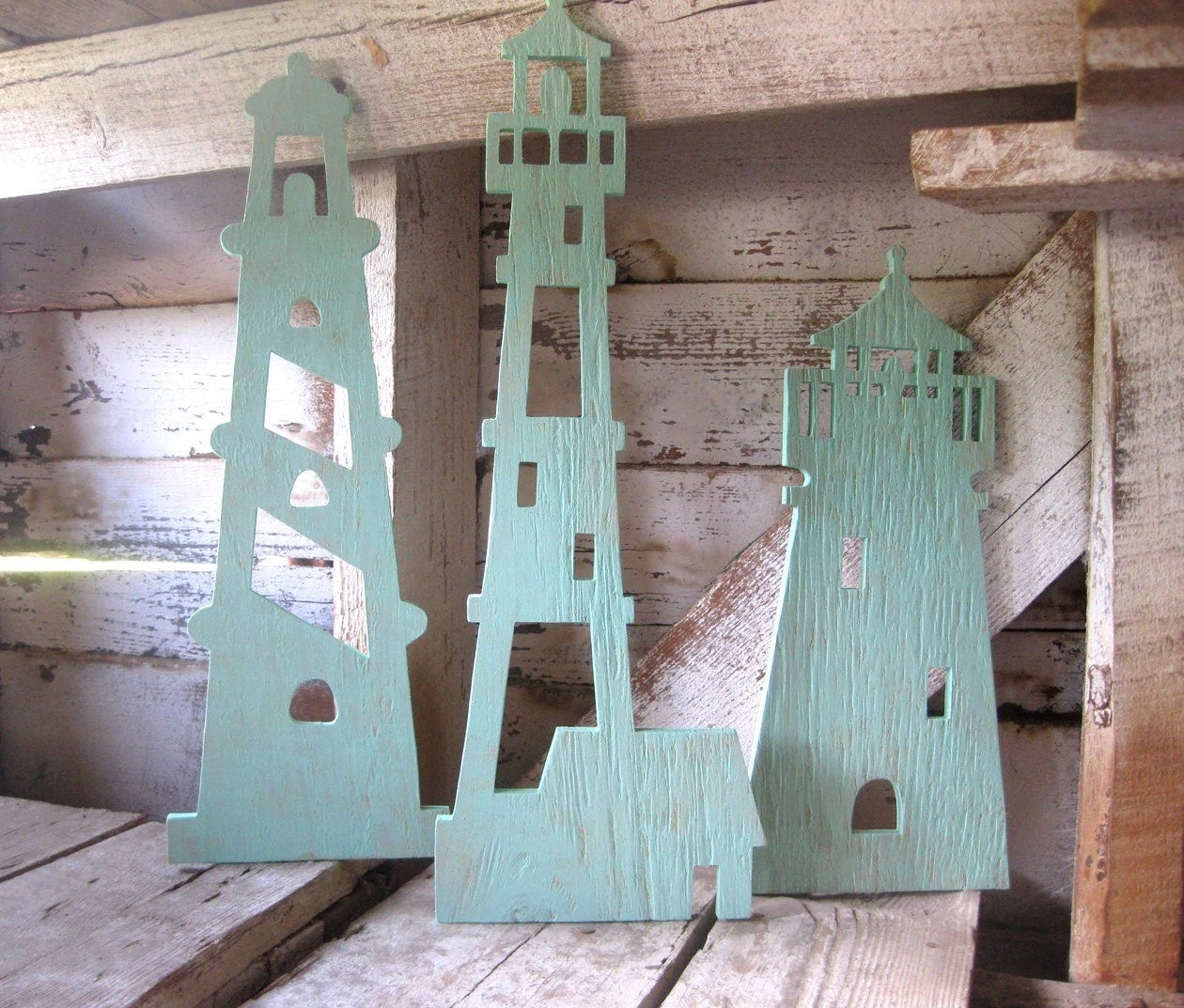 Best Lighthouse Trio Wood Lighthouse Wall Art Beach Decor This Month
