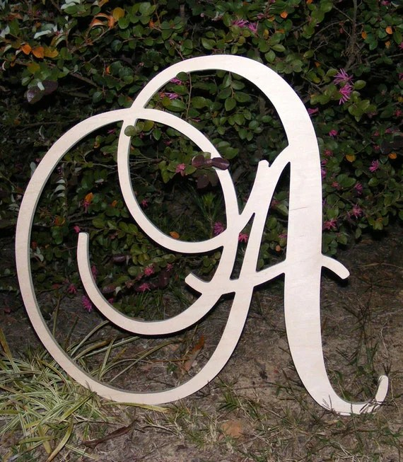 Best 24 Large Wooden Wall Letters Monogram Letters This Month