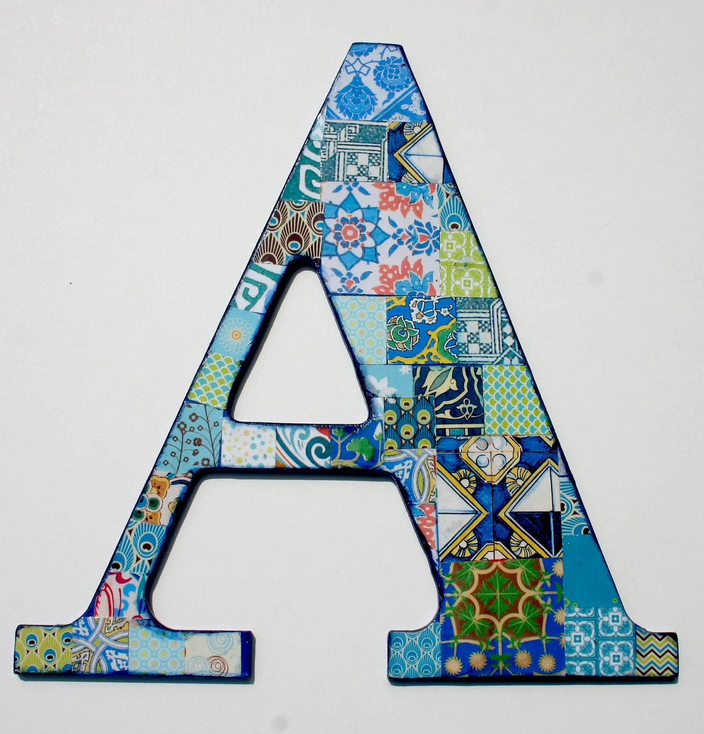Best Wooden Letters For Nusery Nursery Letter A Decoupage Letter This Month