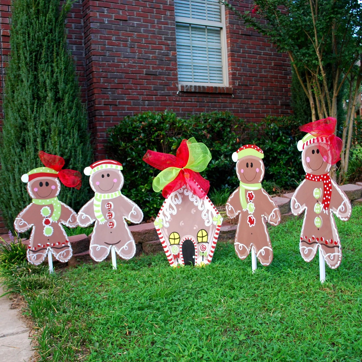 Best Christmas Yard Decor Gingerbread Man Christmas Decor This Month