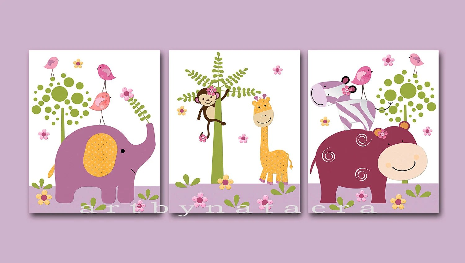 Best Kids Wall Art Baby Girl Room Decor Baby Girl Nursery Art Set This Month