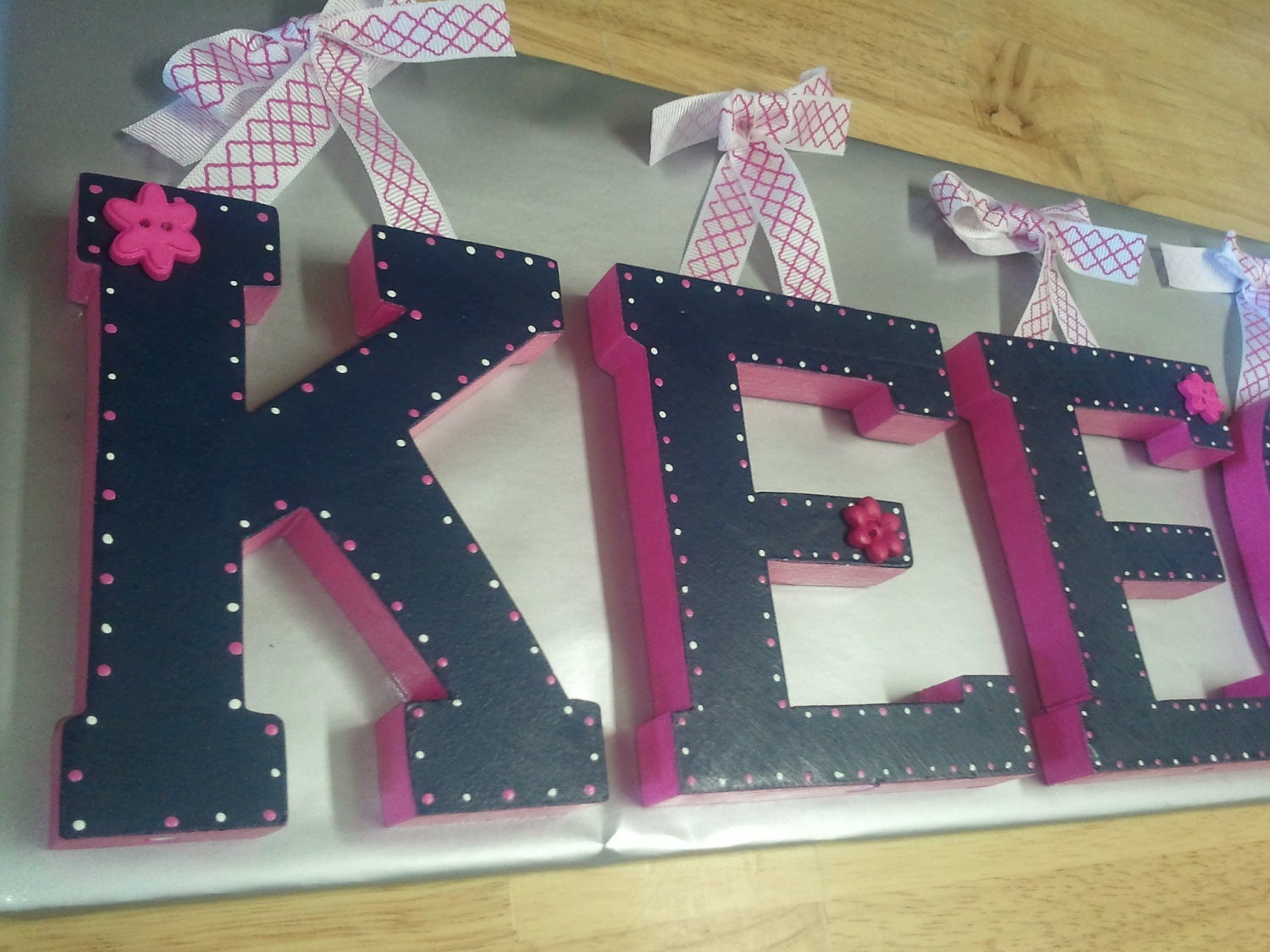 Best Hand Painted Wooden Letters For Nursery Decor Kids By This Month