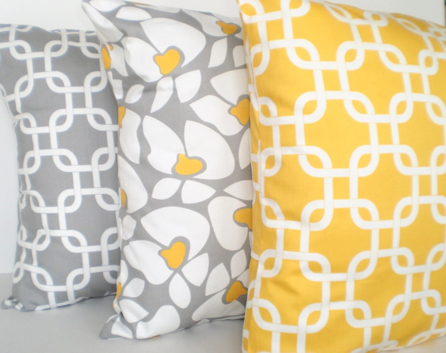 Best Yellow Gray Pillow Covers Decorative Throw Pillows Cushion This Month