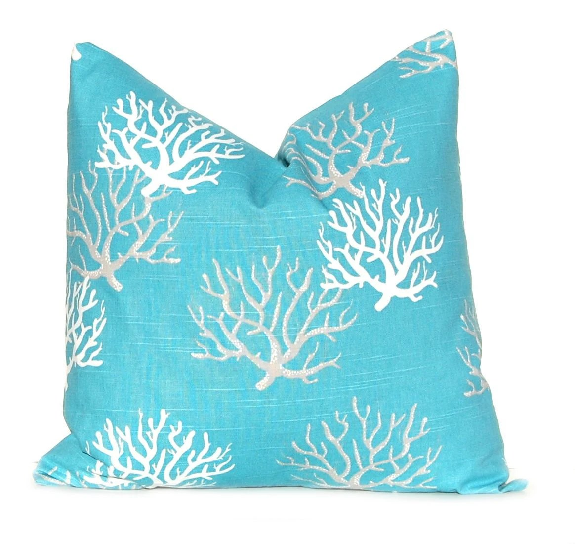 Best Decorative Throw Pillow Cover Beach Decor Sea Coral One This Month