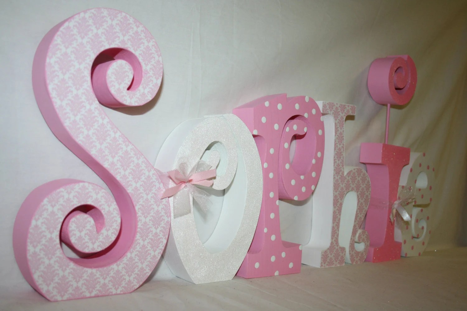 Best Decorative Girl Nursery Letters Wood Letters 6 Letter Set This Month