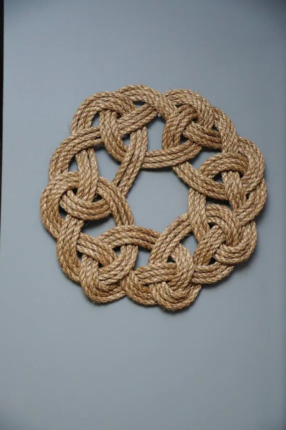 Best Nautical Decor Wall Hanging Knot Wreath Rope Knots This Month