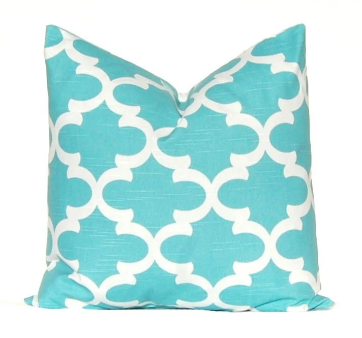 Best Turquoise Pillow Aqua Pillow Cover Decorative Throw Pillow This Month
