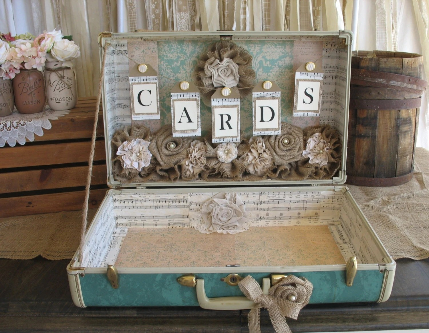 Best Vintage Suitcase For Rustic Wedding Card Holder Wedding Card This Month