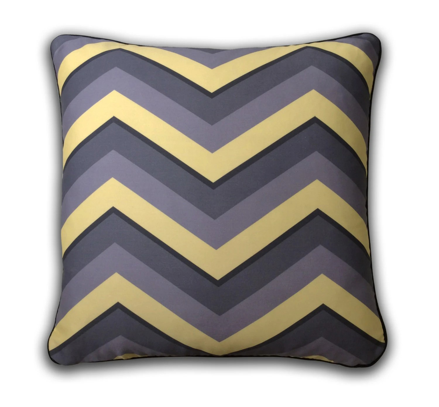 Best Gray And Yellow Chevron Decorative Pillow By Foxglovesonoma This Month