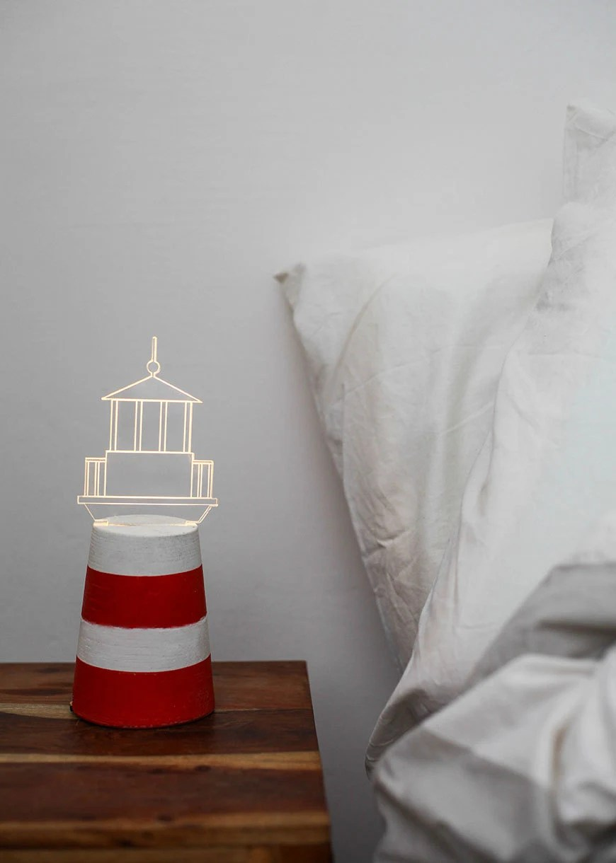 Best Lighthouse Lamp Concrete Lamp Nautical Home Decor Nautical This Month