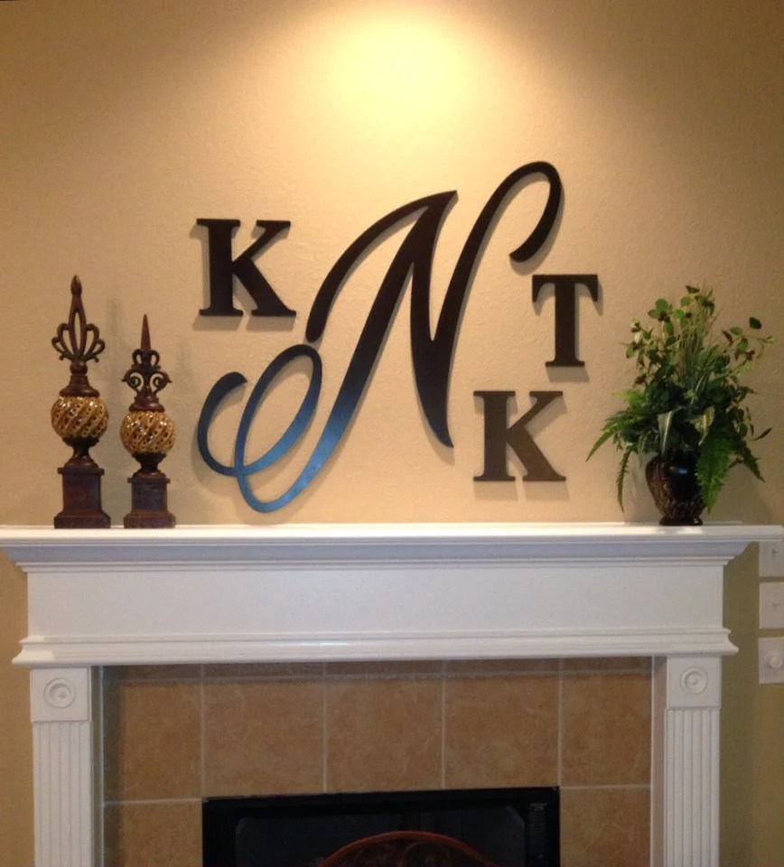 Best Large 28 Inch Wooden Monogram Hand Painted Wooden Letters This Month