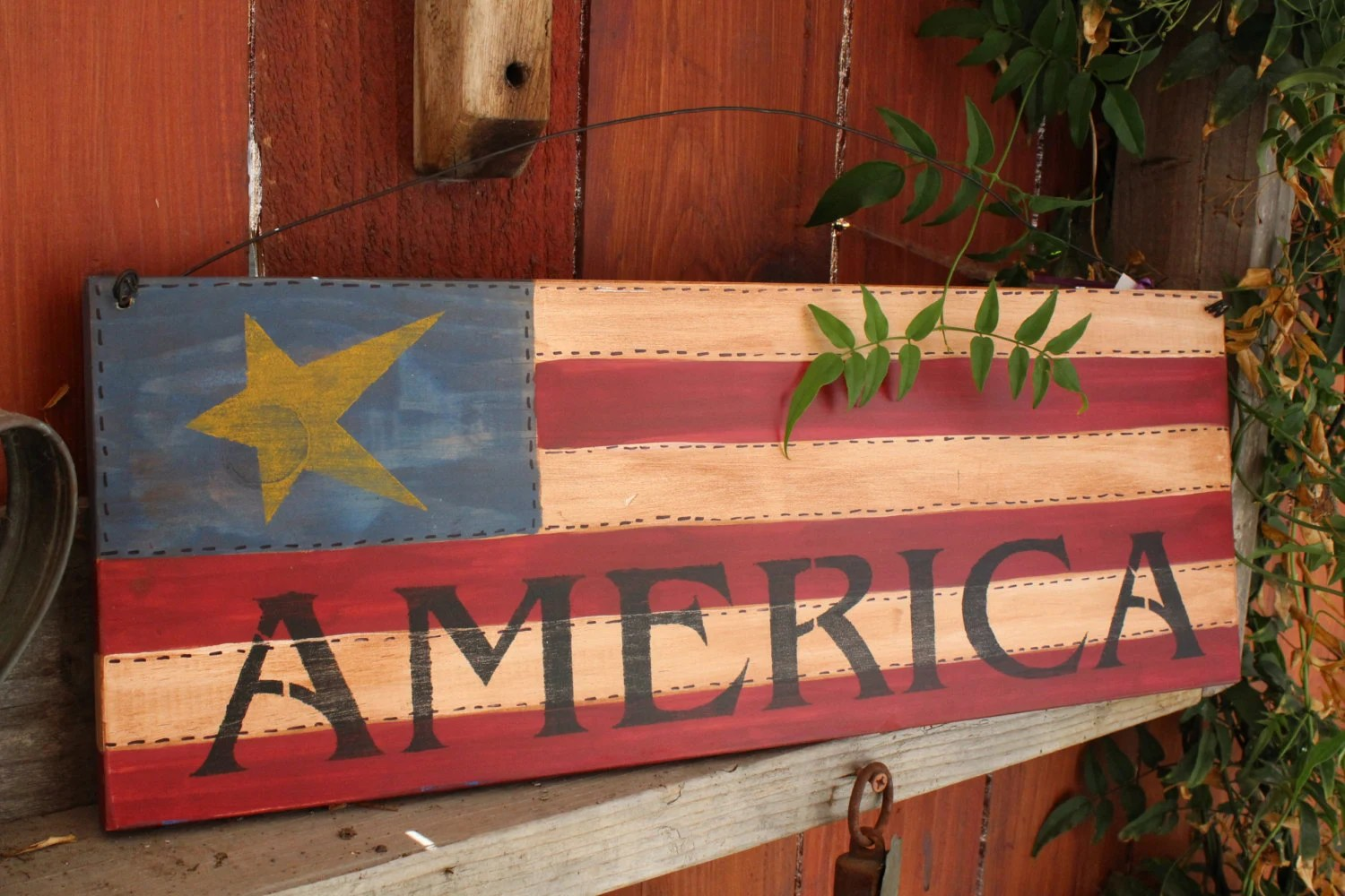 Best Items Similar To Patriotic Decor Wooden American Flag On This Month