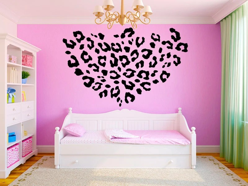 Best Leopard Print Girls T**N Room Vinyl Wall Decal By Stickerhog This Month