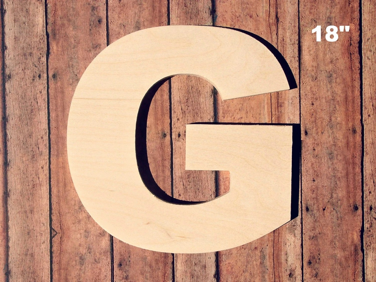 Best Unfinished 18 Decorative Wooden Letter G 18 Inch This Month