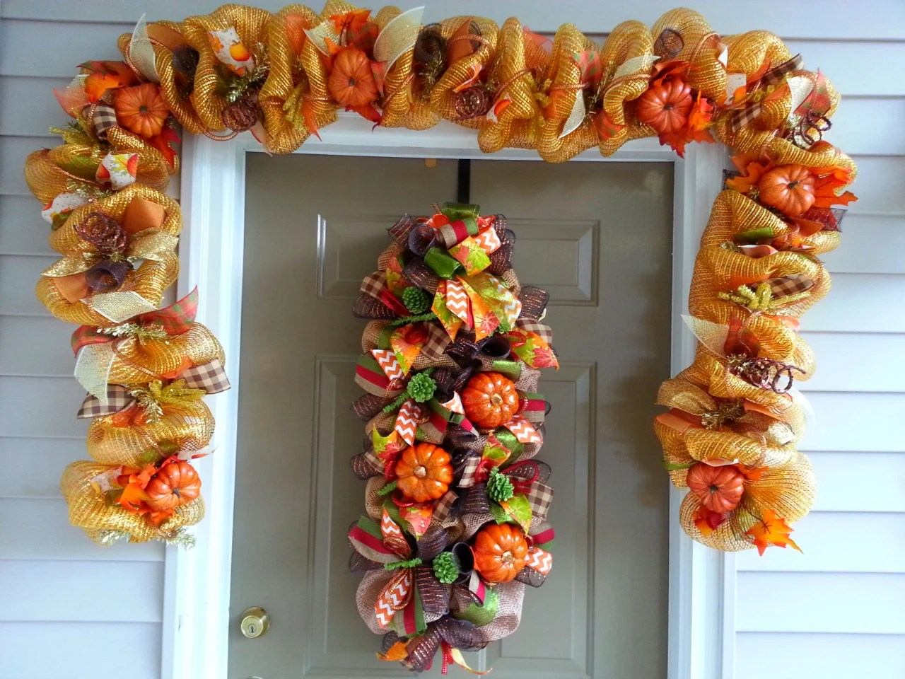 Best Deco Mesh Fall Harvest Autumn Garland Fall Decor Fall This Month