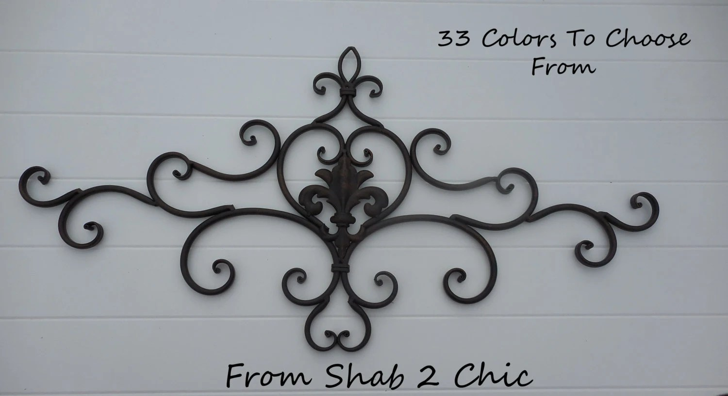Best Black Wrought Iron Decor Shabby Chic Wall By This Month