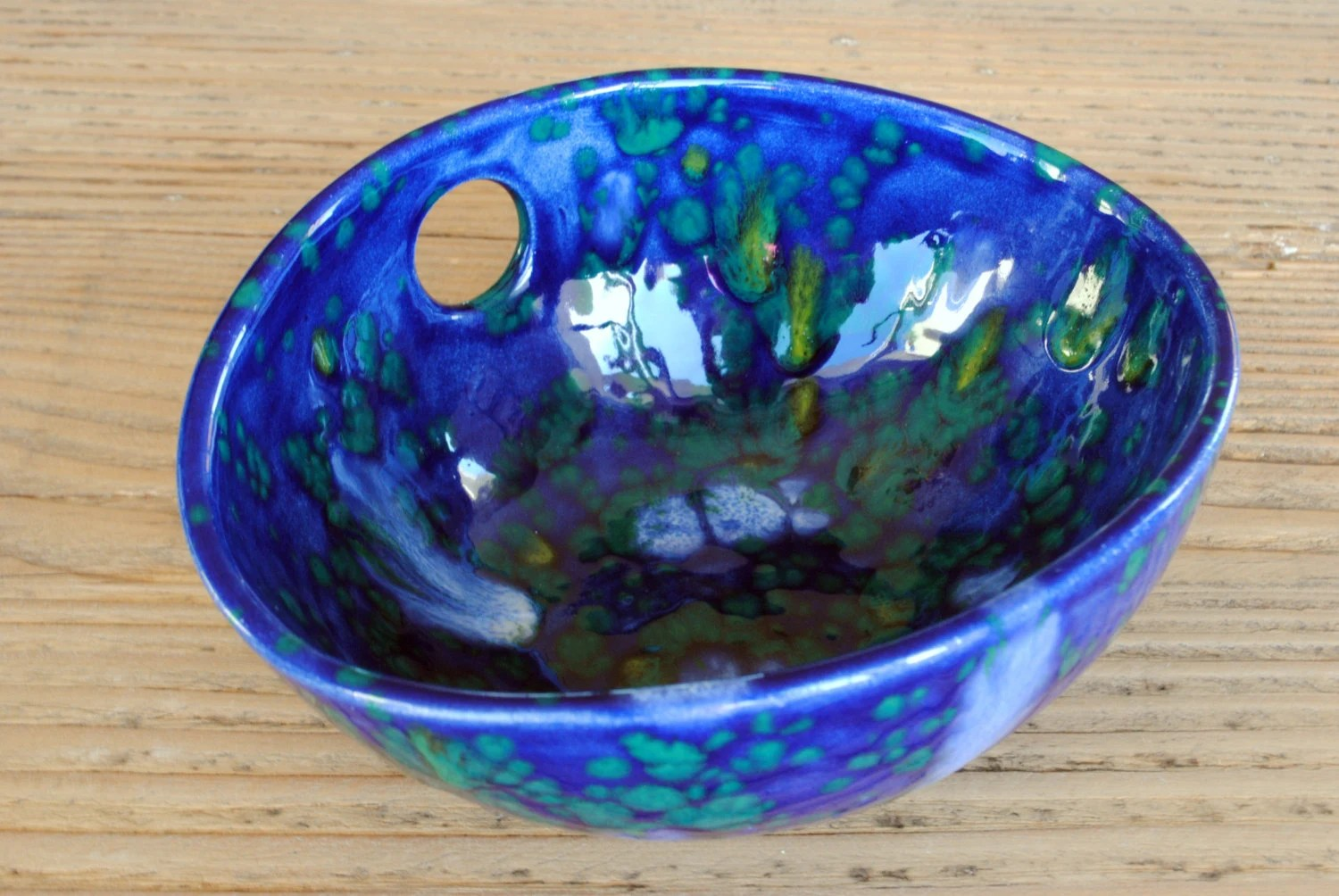 Best Blue Speckled Pottery Bowl Handmade Ceramic Oval Decorative This Month