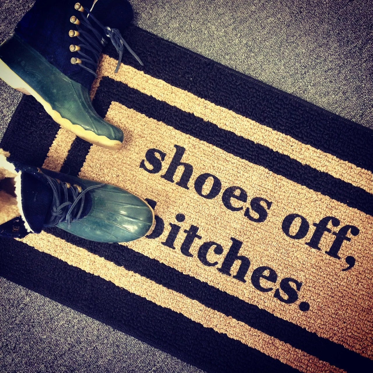 Best Shoes Off Bitches® Decorative Door Mat Area Rug Funny This Month