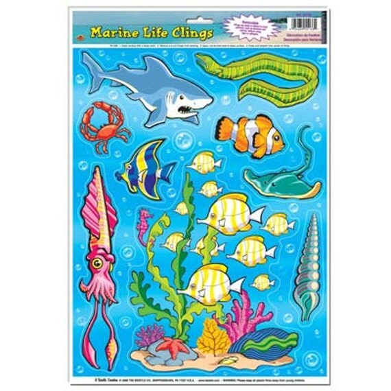 Best 1 Marine Life Window Clings Party Supplies Decorations This Month