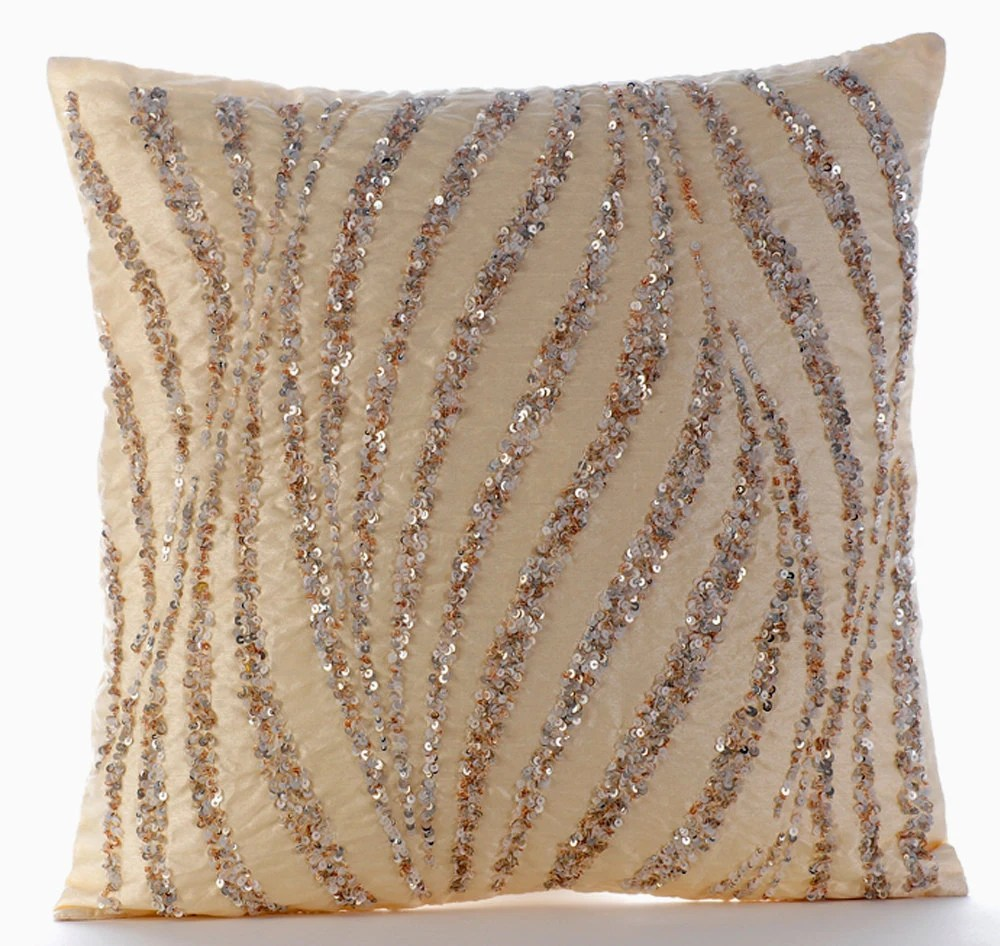 Best Beige Decorative Pillow Cover 16X16 Silk Pillows This Month