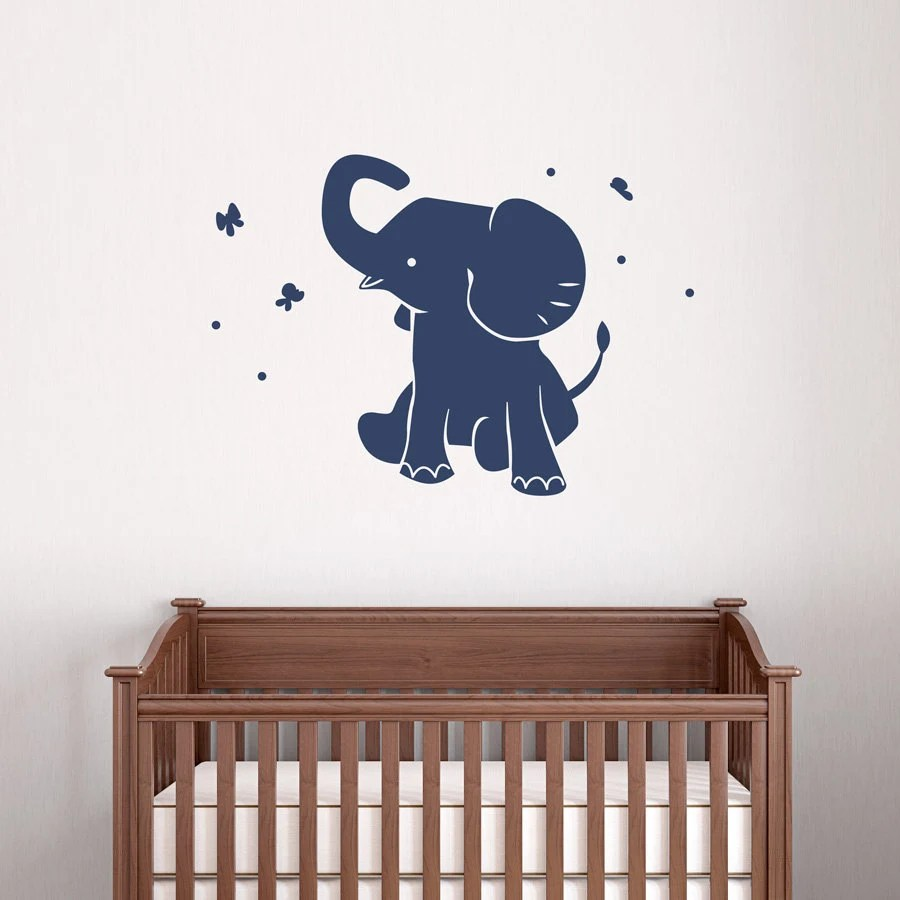 Best Baby Elephant Wall Decal Vinyl Decal Sticker Elephant Wall This Month