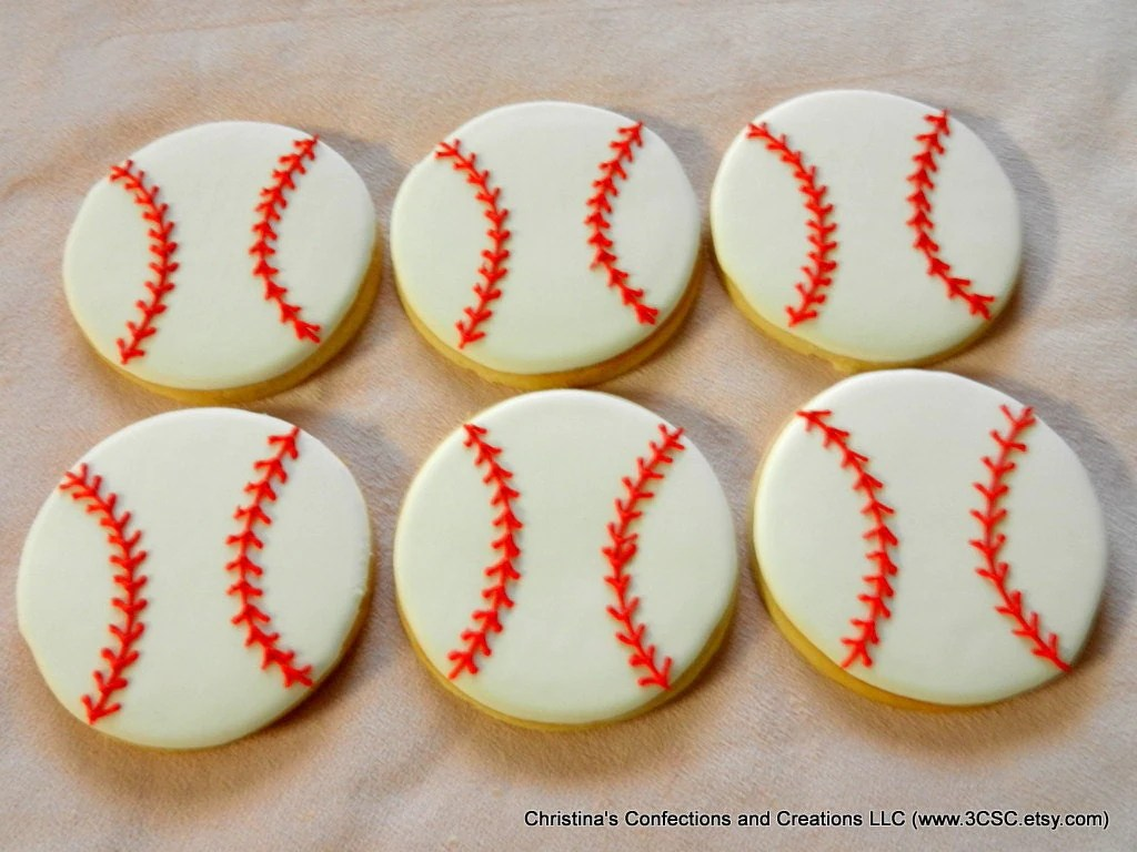 Best Baseball Or Softball Hand Decorated Sugar Cookies This Month