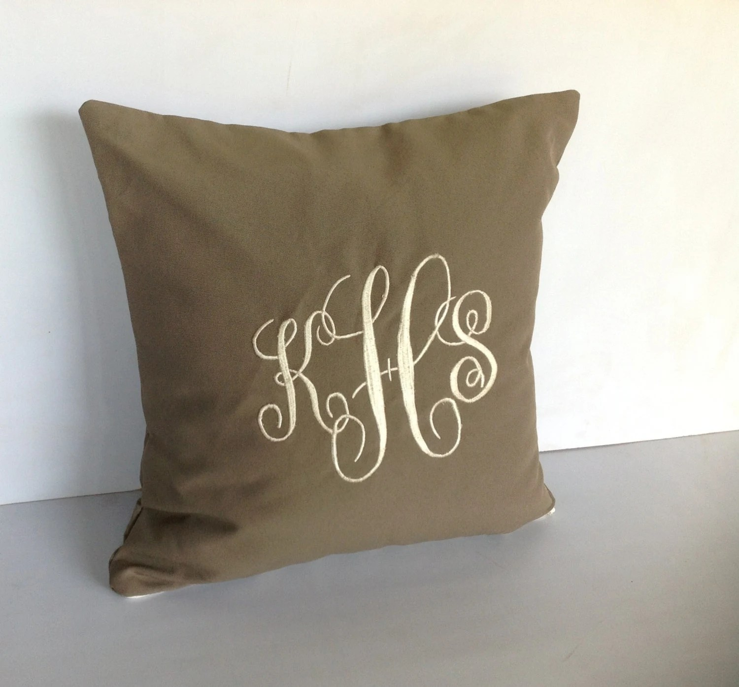 Best Outdoor Pillows Monogram Decorative Pillow Cover 16X16 This Month