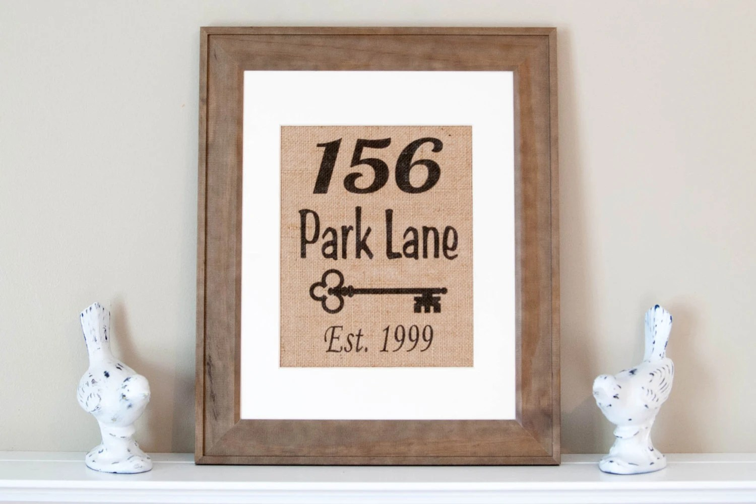 Best Personalized Burlap Print Address Wall Decor Address Home This Month