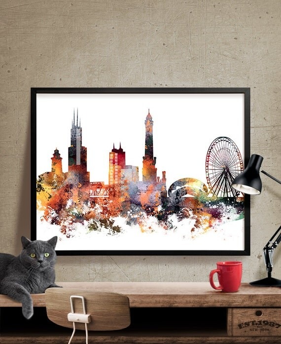 Best Chicago Art Chicago Wall Art City Prints City Art Chicago This Month