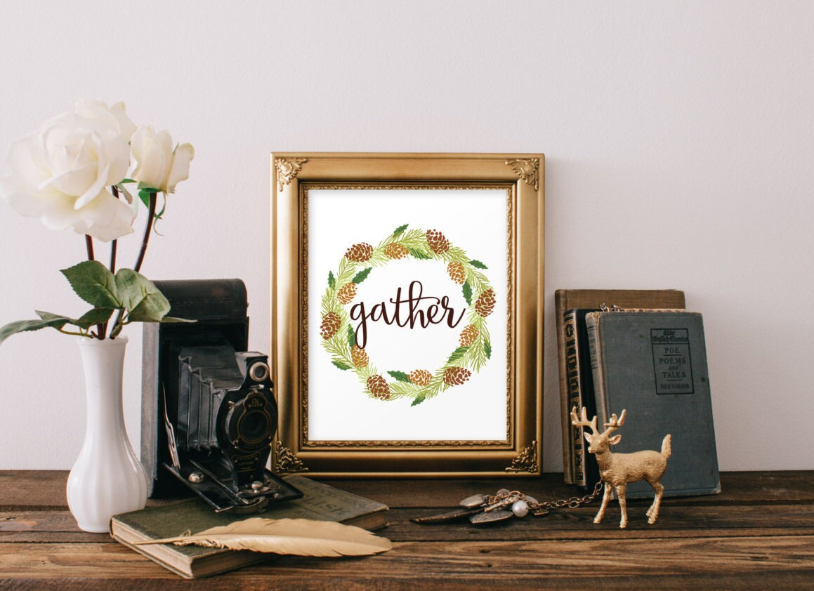 Best Gather Printable Wall Art Home Decor Thanksgiving Decor This Month