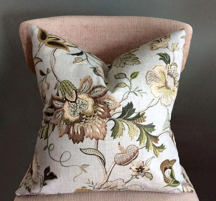Best Floral Throw Pillows Green Beige Pillow Covers Decorative This Month