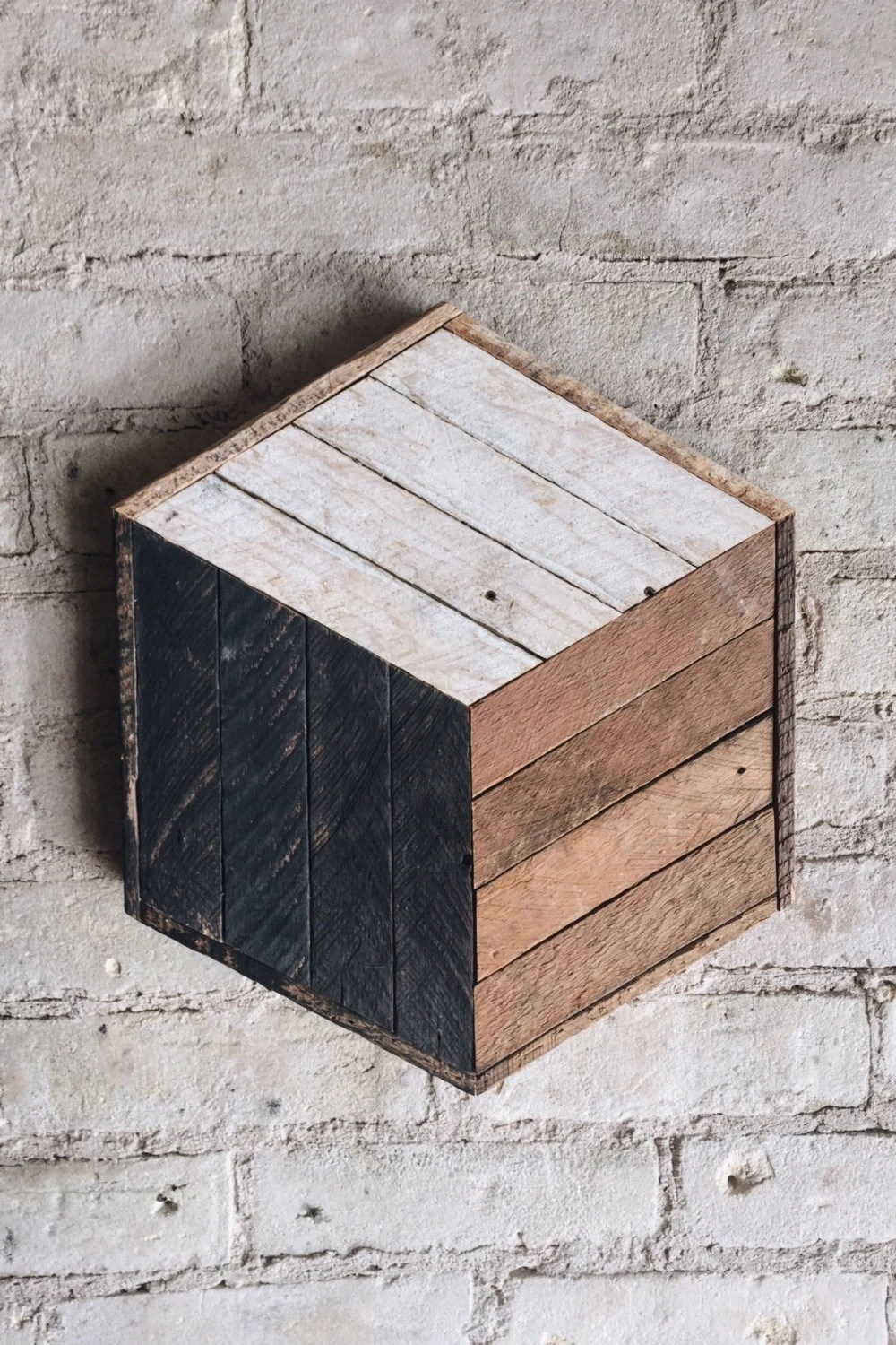 Best Reclaimed Wood Wall Art Decor Cube Lath 12 X 14 This Month