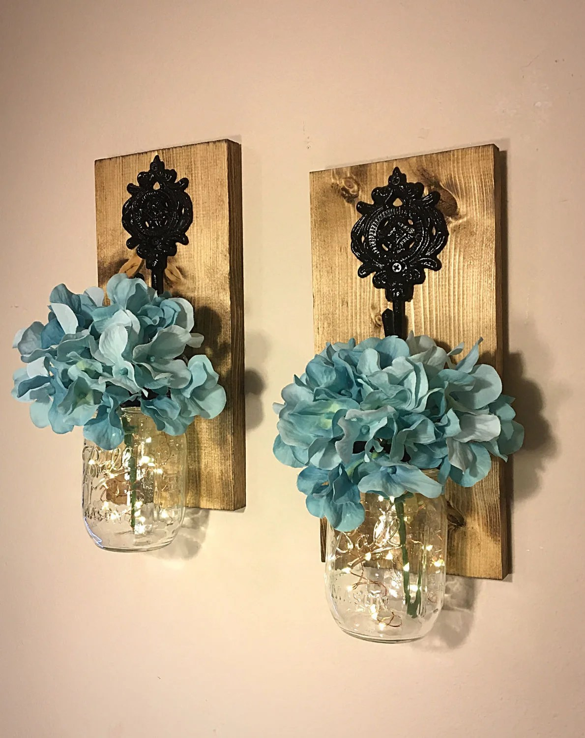 Best Mason Jar Sconces Mason Jar Wall Decor Mason Jar Decor This Month
