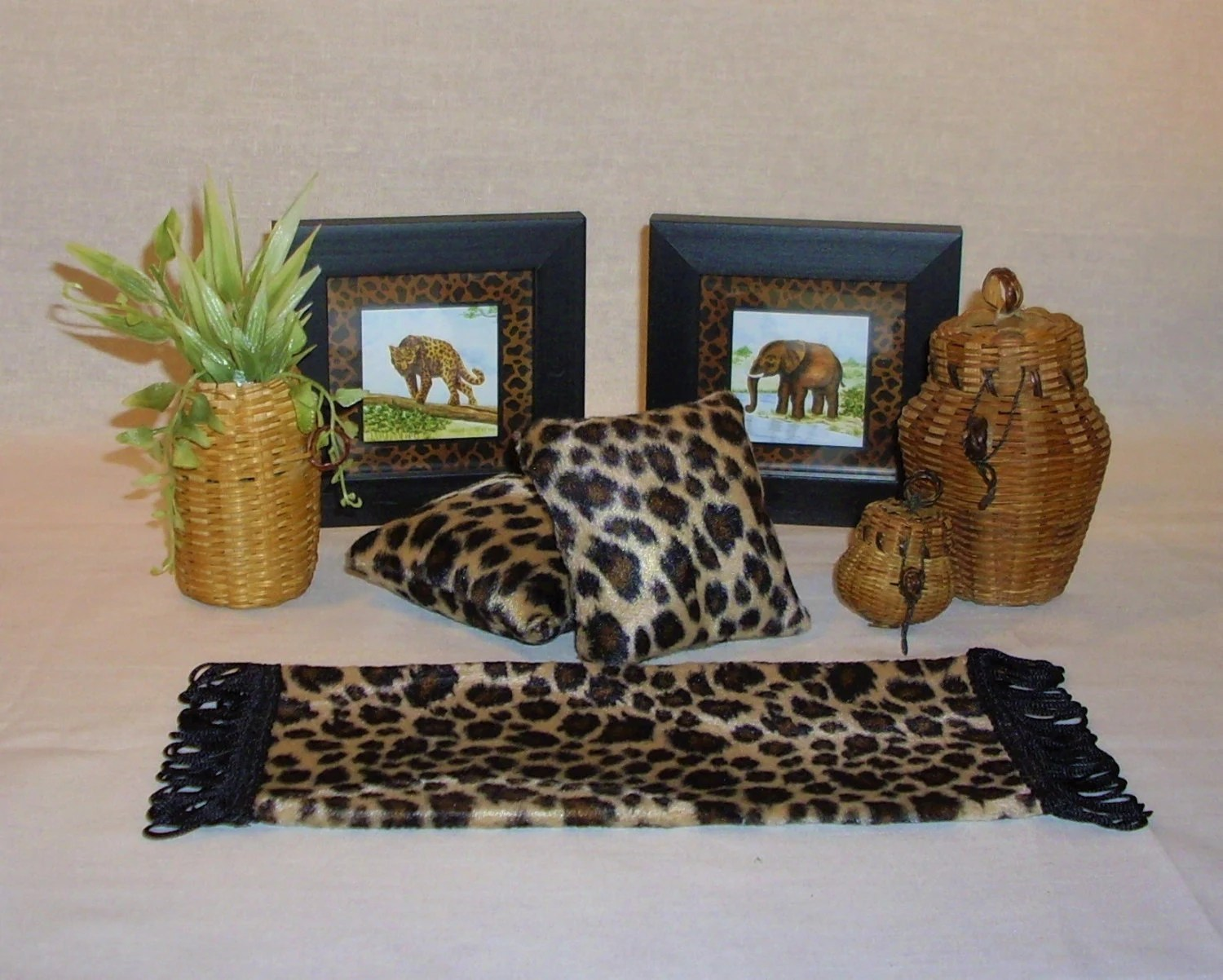 Best Doll Home Leopard Print Animal And Wicker Decor Lot Rug This Month